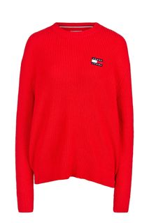 Красный хлопковый джемпер оверсайз Tommy Jeans