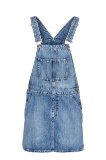 Короткое джинсовое платье с расклешенной юбкой Tommy Jeans