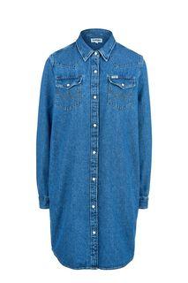 Короткое джинсовое платье-рубашка Wrangler
