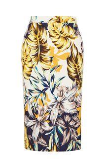 Облегающая трикотажная юбка с цветочным принтом Anur