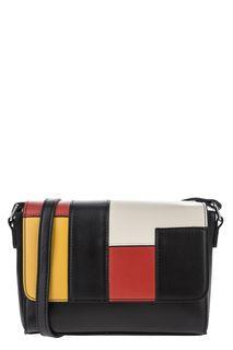 Кожаная сумка с разноцветными вставками Labbra
