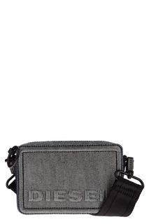 Маленькая текстильная сумка с блестящей нитью Diesel