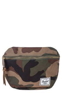 Текстильная поясная сумка с камуфляжным принтом Herschel