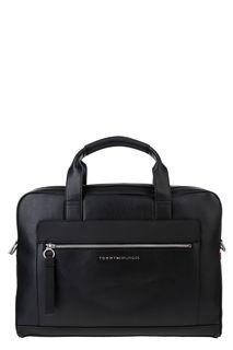 Сумка черного цвета с отделением для ноутбука Tommy Hilfiger