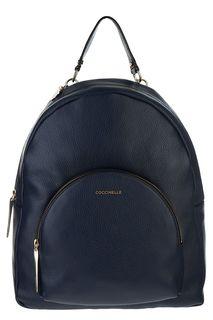 Кожаный рюкзак с текстильными лямками Coccinelle