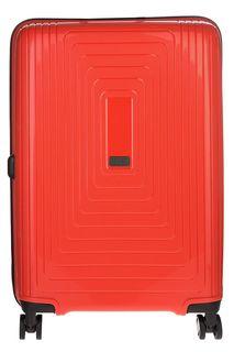 Оранжевый чемодан на колесах Fabretti