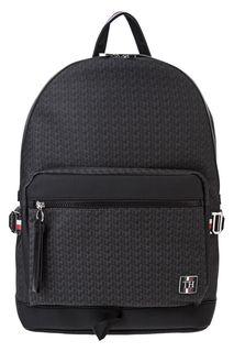 Городской серый рюкзак с монограммой бренда Tommy Hilfiger