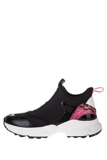 Текстильные кроссовки с животным принтом Willow Michael Michael Kors