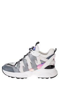 Белые кроссовки со светоотражающими вставками Hero Michael Michael Kors