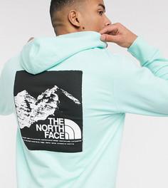 Худи светло-бирюзового цвета с принтом на спине The North Face эксклюзивно на ASOS-Зеленый