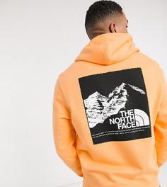 Худи оранжевого цвета с принтом The North Face эксклюзивно для ASOS-Оранжевый