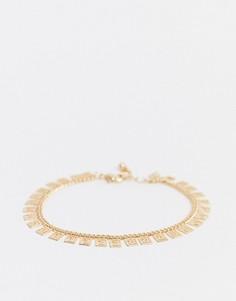 Золотистый браслет с отделкой ASOS DESIGN-Золотой