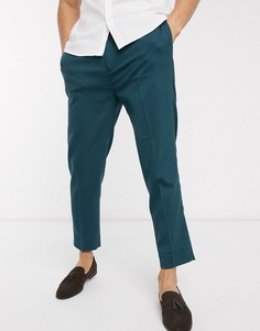 Зеленые зауженные брюки до щиколотки ASOS DESIGN-Зеленый