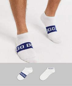 Набор из 2 пар белых спортивных носков с логотипом BOSS-Белый