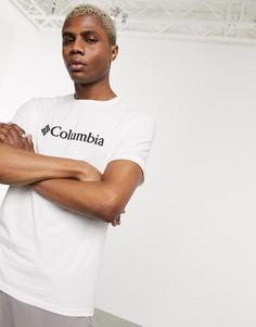 Белая базовая футболка с логотипом Columbia-Белый