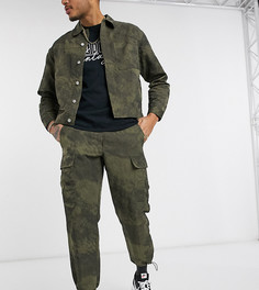 Брюки-карго цвета хаки Reclaimed Vintage inspired-Зеленый