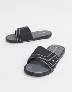 Черные шлепанцы с логотипом Dunlop-Черный