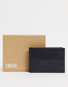 Черная кожаная кредитница ASOS DESIGN-Черный