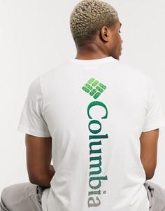 Белая футболка с принтом Columbia-Белый