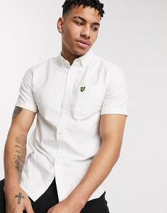 Белая оксфордская рубашка с короткими рукавами Lyle & Scott-Белый