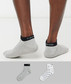 Набор из 2 пар спортивных носков с логотипом Calvin Klein-Белый