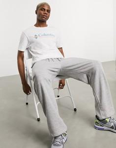 Белая базовая футболка с голубым логотипом Columbia CSC-Белый