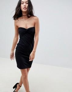 Платье-бандо мини ASOS-Черный