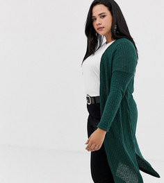 Темно-зеленый кардиган макси New Look Curve