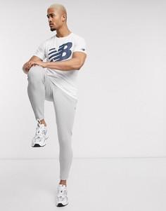 Белая футболка с логотипом New Balance Running-Белый