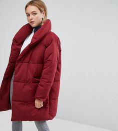 Свободное дутое пальто Monki-Красный