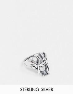Серебряное кольцо с черепом Reclaimed Vintage Inspired-Серебряный