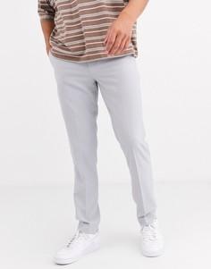 Серые строгие зауженные брюки ASOS DESIGN-Серый
