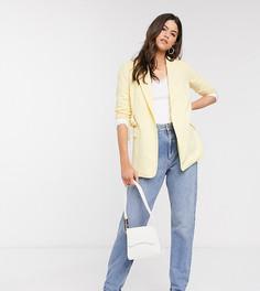 Эксклюзивный светло-желтый пиджак с поясом Vero Moda