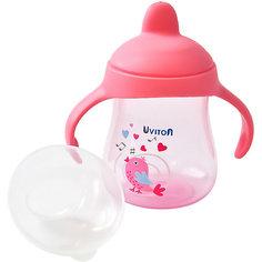 Поильник-непроливайка Uviton Baby, 250 мл, розовый