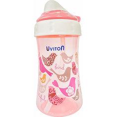Поильник-непроливайка Uviton Baby, 360 мл, розовый