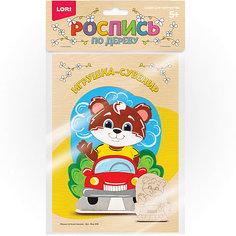 """Роспись по дереву Lori, игрушка-сувенир """"Мишка путешественник"""""""