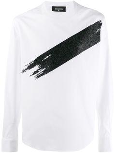 Dsquared2 футболка с длинными рукавами и принтом