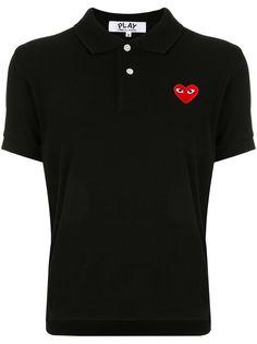 Comme Des Garçons Play рубашка-поло с нашивкой-логотипом