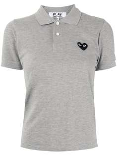 Comme Des Garçons Play рубашка-поло с вышитым логотипом