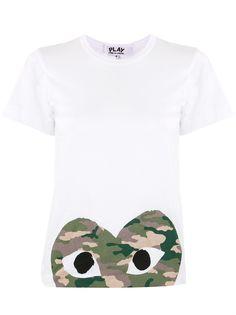 Comme Des Garçons Play футболка с круглым вырезом и логотипом