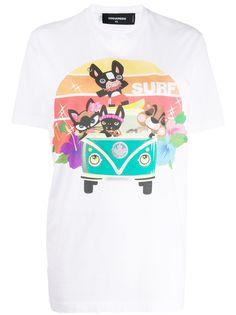 Dsquared2 футболка с графичным принтом Surf