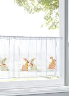 Кухонная штора с вышивкой кролики Bonprix