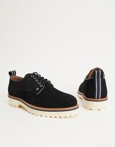 Черные замшевые туфли на шнуровке Original Penguin-Черный