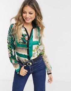 Блузка с разноцветным принтом Morgan-Мульти