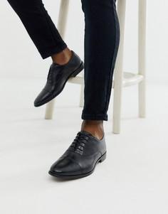 Кожаные оксфордские туфли черного цвета Walk London-Черный