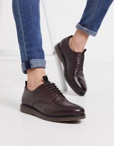 Бордовые кожаные туфли со шнуровкой H By Hudsonr-Красный