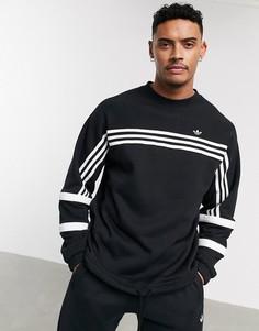 Черный свитшот с 3 полосками adidas Originals