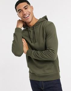 Легкий худи цвета хаки New Look-Зеленый