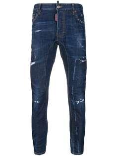 Dsquared2 джинсы скинни с эффектом потертости