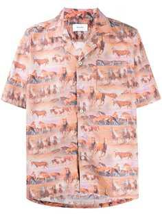 Rhude рубашка с короткими рукавами и принтом